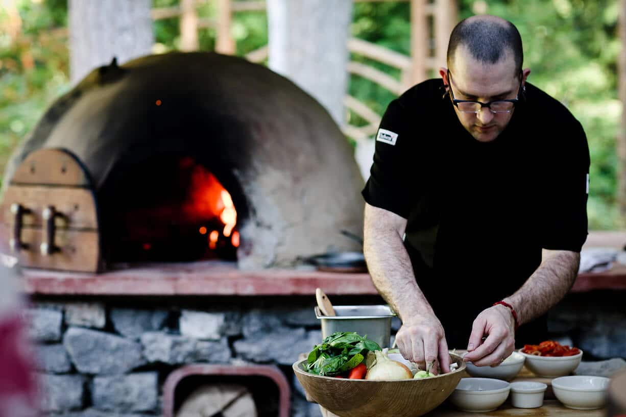 Outdoor Cobb oven at IslandWood, an Outdoor Meeting venue