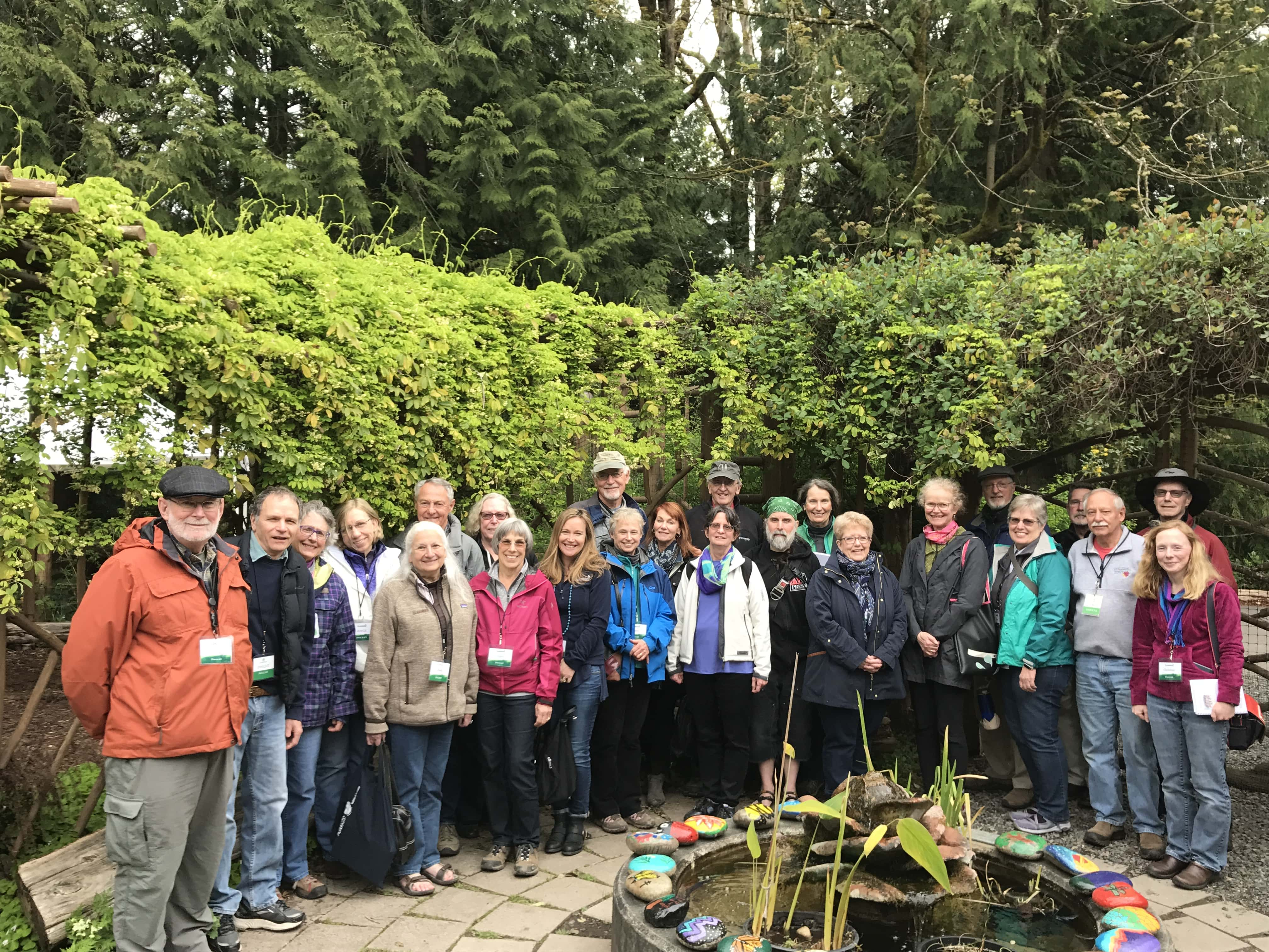 Docent furthering Environmental STEAM Education in IslandWood's Garden