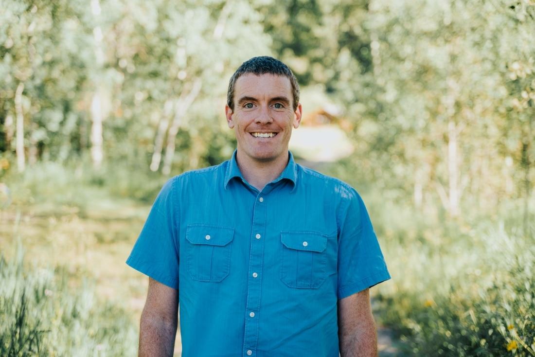 Alum Joe Petrick, as a student in the IslandWood Graduate Program.