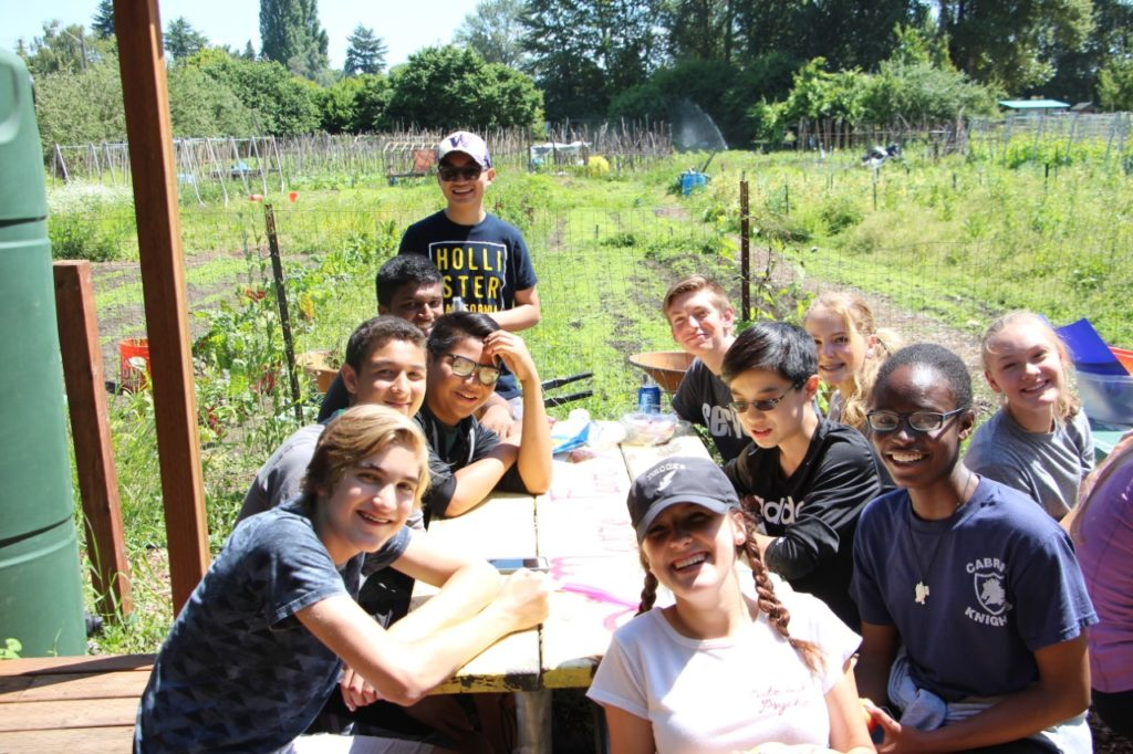Giorvi and participants in a youth program with the Bill and Melinda Gates Foundation.